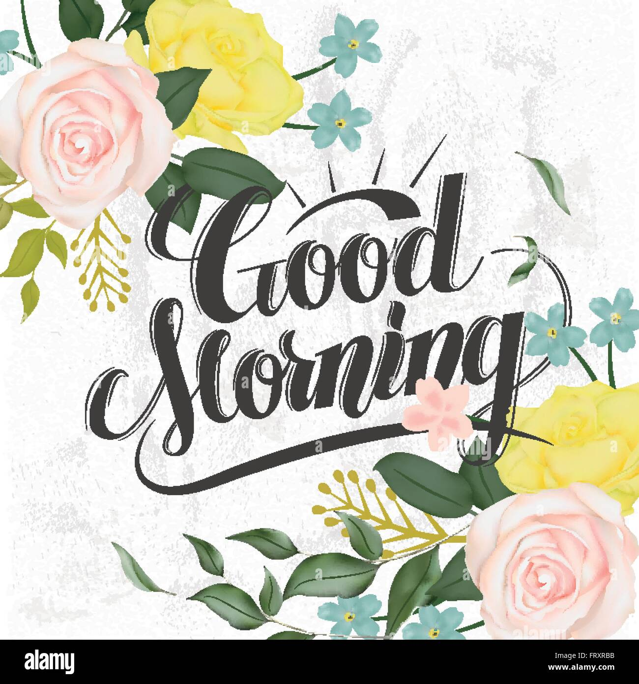 Poster design elements - Stock Vector Attractive Good Morning Calligraphy And Poster Design With Floral Elements
