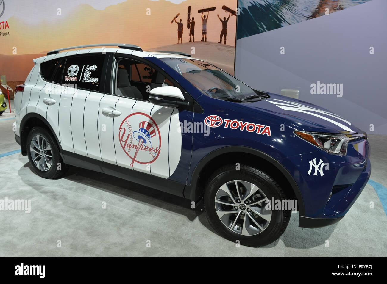 new car 2016 usaManhattan New York USA 23rd Mar 2016 Toyota RAV4 Hybrid