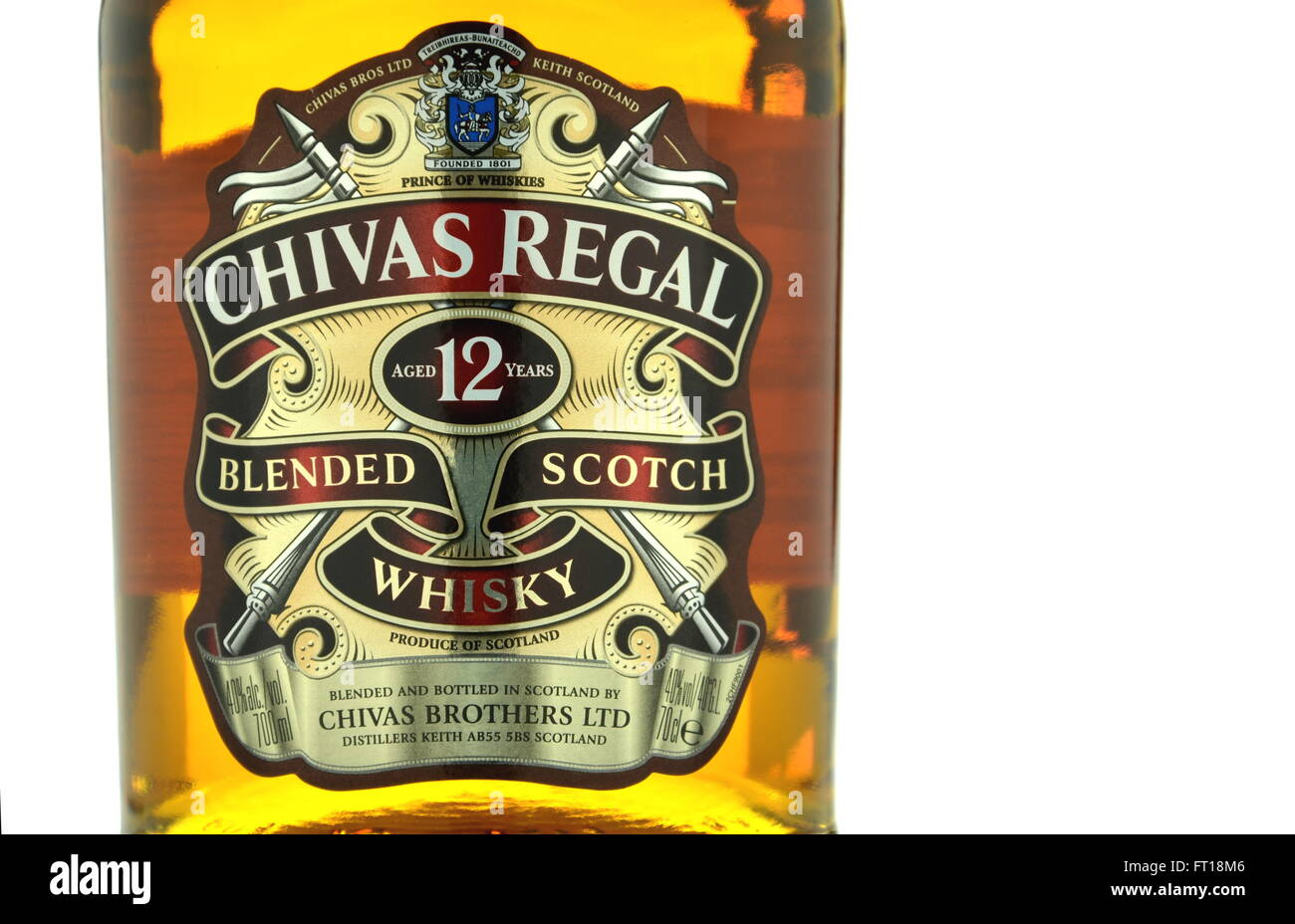 Chivas regal whiskey isolated on white background stock photo chivas regal whiskey isolated on white background voltagebd Images