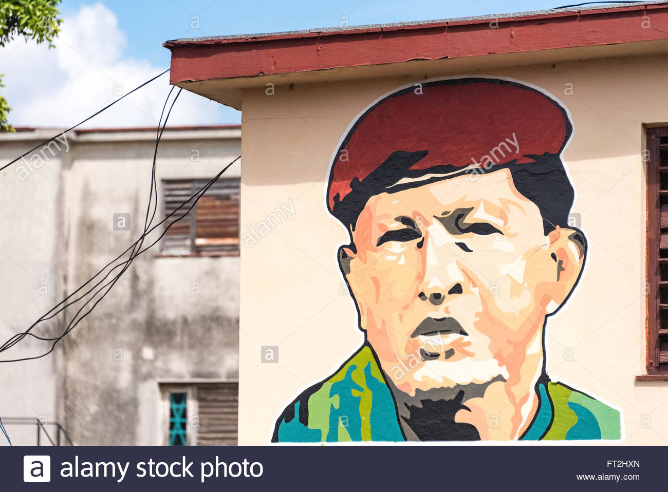 Image result for Hugo Chavez pictures on buildings