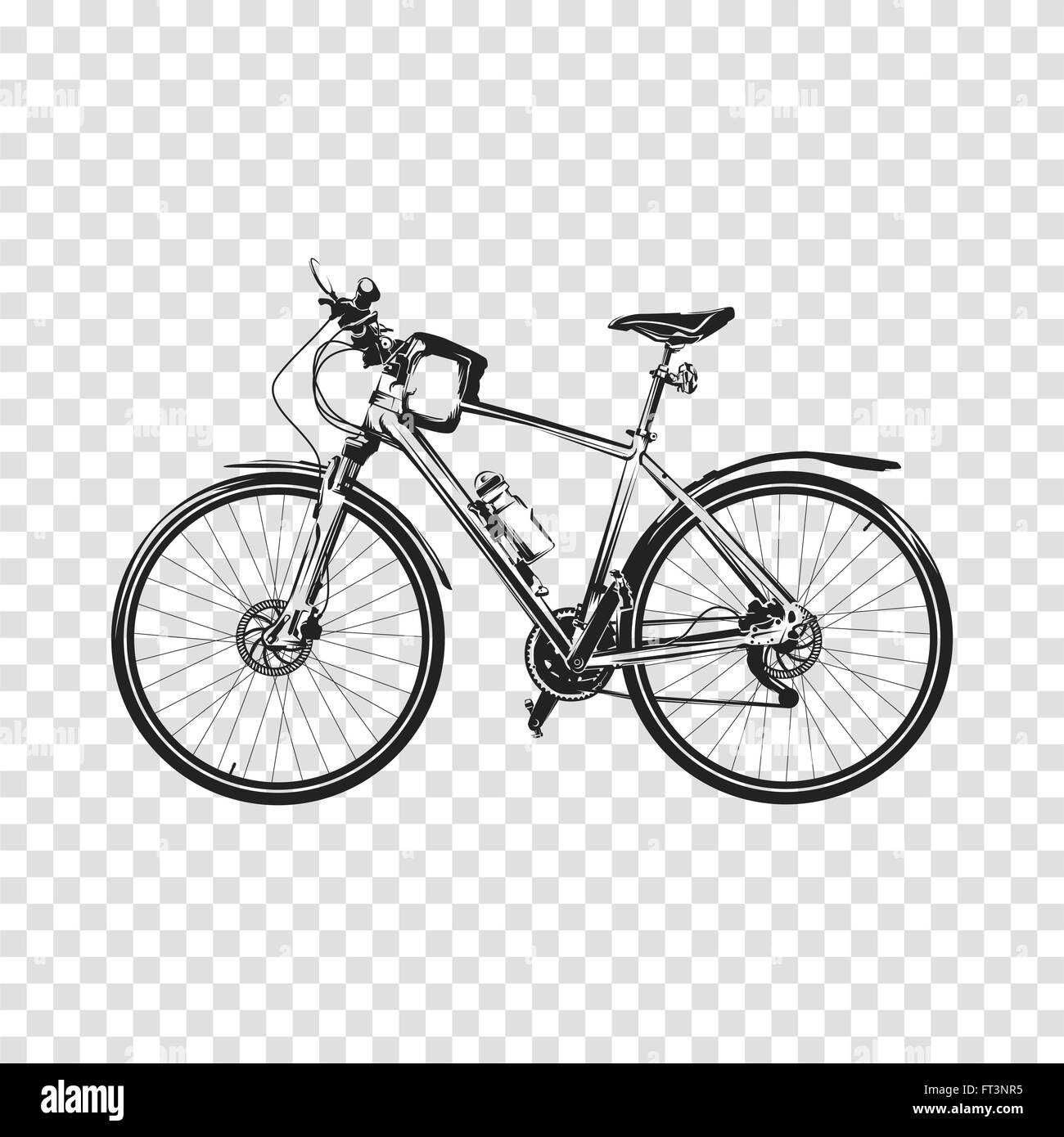 bike a transparent background bicycle silhouette illustration vector stock vector art. Black Bedroom Furniture Sets. Home Design Ideas