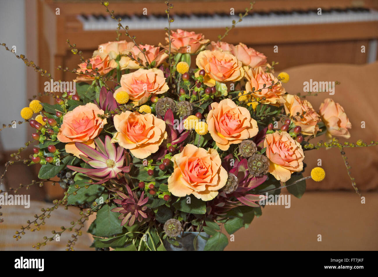 Bouquet with orange roses in vase stock photo royalty free image bouquet with orange roses in vase reviewsmspy