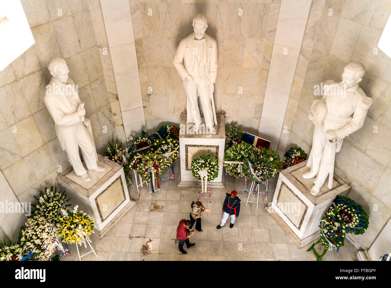 Statues of the founding fathers of the Dominican Republic ...