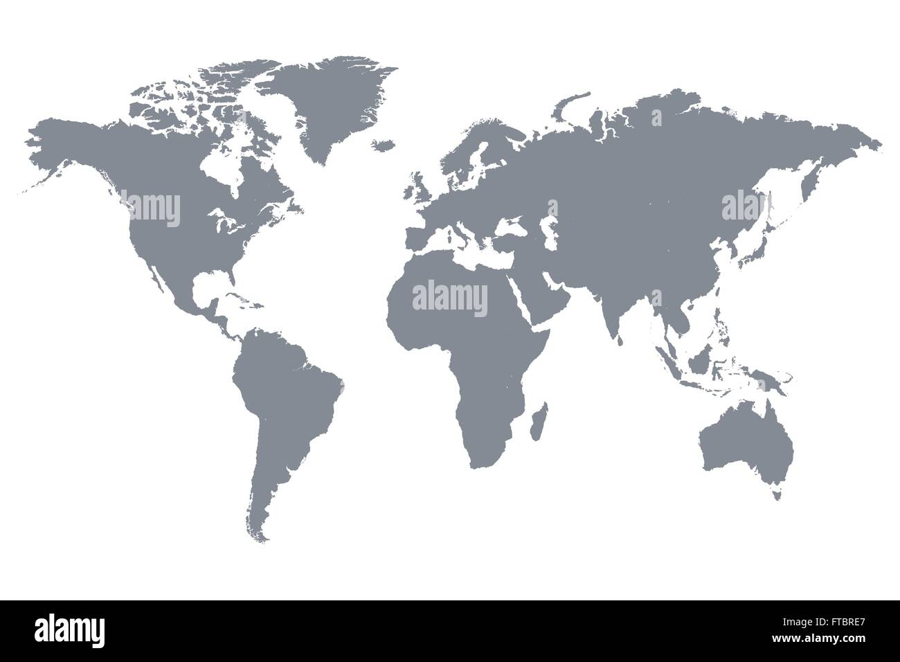 Grey world map vector illustration stock vector art illustration grey world map vector illustration gumiabroncs Gallery
