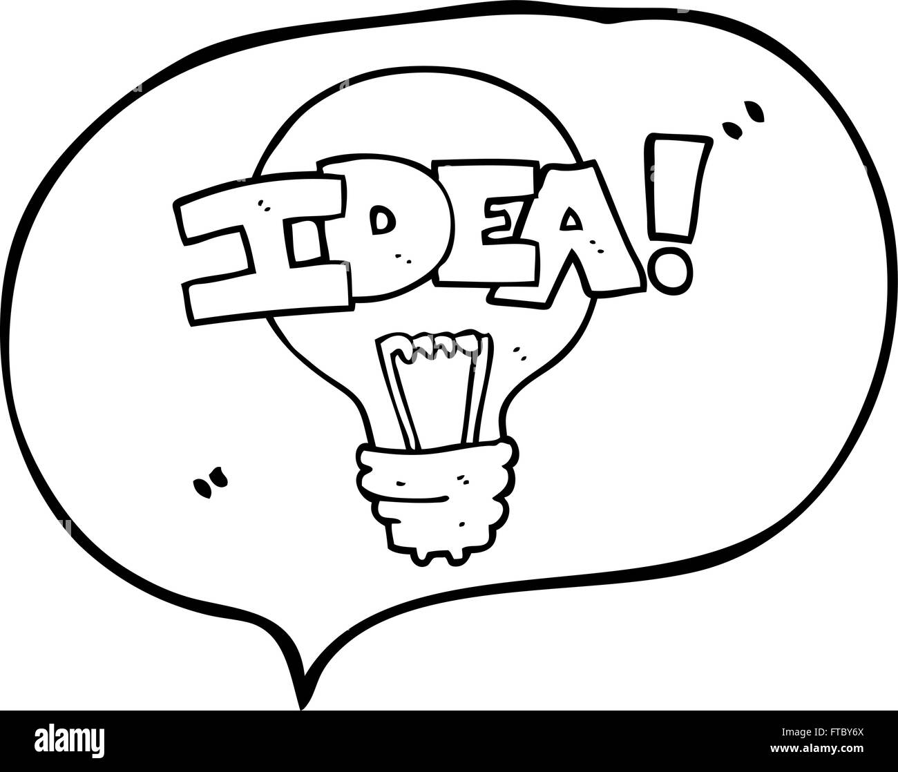 Set Of Hand Drawn Light Bulbs Symbol Of Ideas Stock: Freehand Drawn Speech Bubble Cartoon Idea Light Bulb