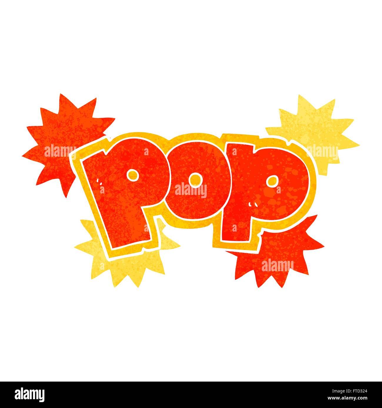 Freehand retro cartoon pop explosion symbol stock vector art freehand retro cartoon pop explosion symbol buycottarizona