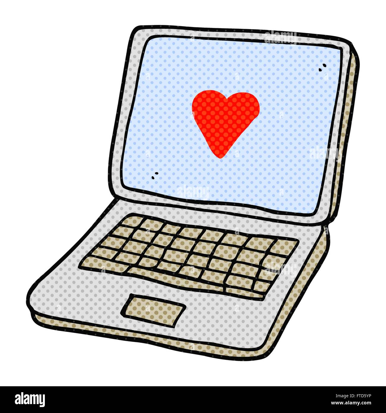 Freehand drawn cartoon laptop computer with heart symbol on screen freehand drawn cartoon laptop computer with heart symbol on screen buycottarizona Choice Image