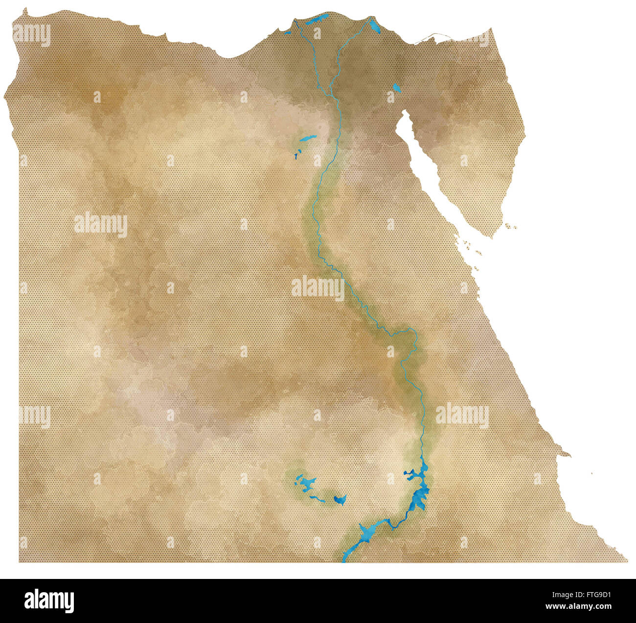 Egypt Map Physical Map Hand Drawn Stock Photo Royalty Free - Egypt physical map