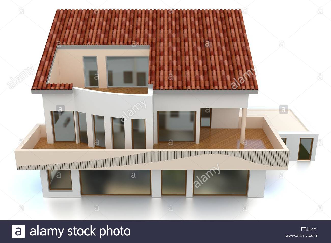 3d modern house on white background Stock Photo 101212187 Alamy
