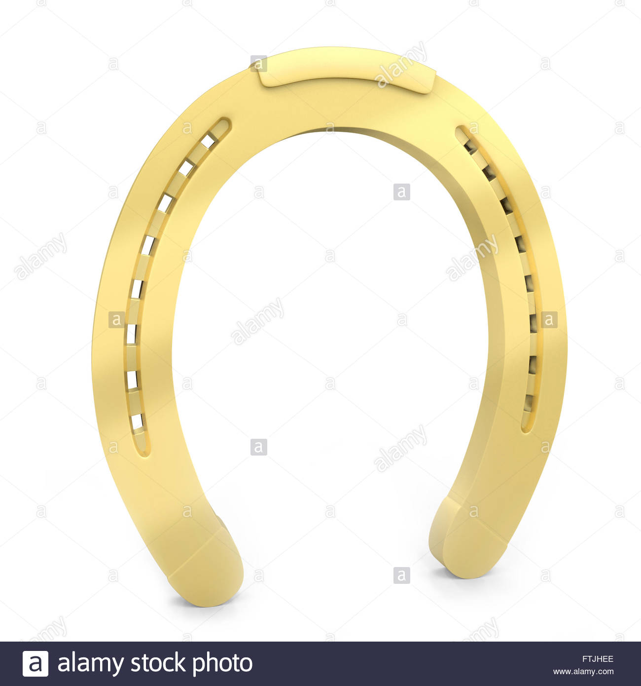 Uncategorized Lucky Symbol 3d golden horseshoe lucky symbol on white background stock photo background