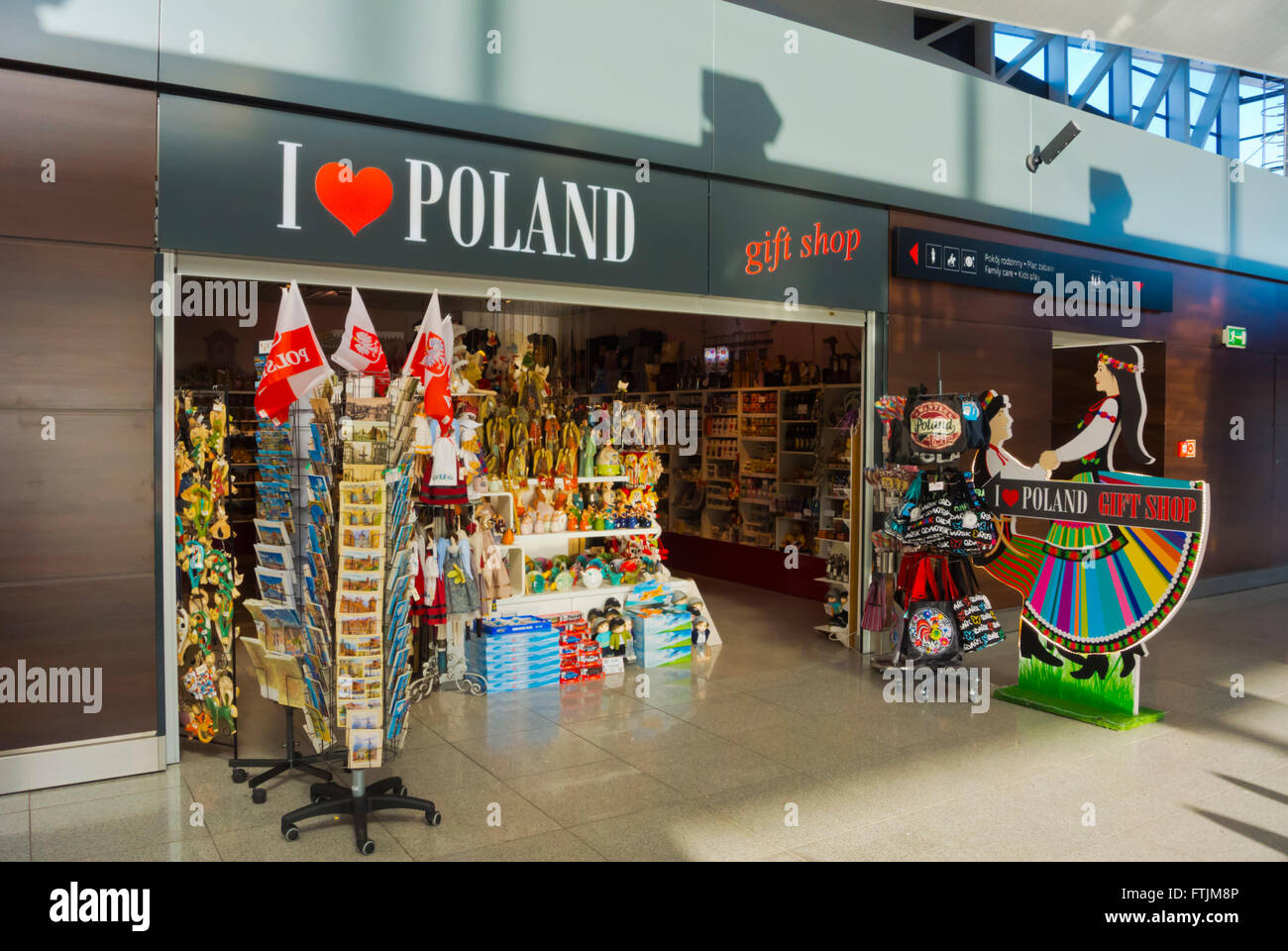 Gift Shop Lech Walesa Airport Gdansk Pomerani Poland Stock Photo Royalty Free Image