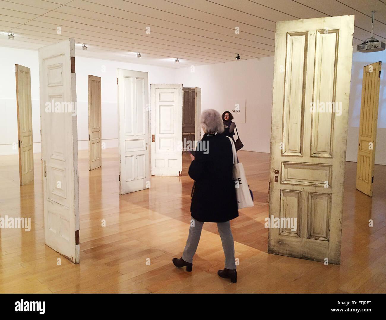 The installation u0027Doorsu0027 by artist Yoko Ono is on display at the art museum in Lyon France 08 March 2016. The retrospective u0027Lumiere de lu0027aubeu0027 & Lyon France. 08th Mar 2016. The installation u0027Doorsu0027 by artist ... pezcame.com