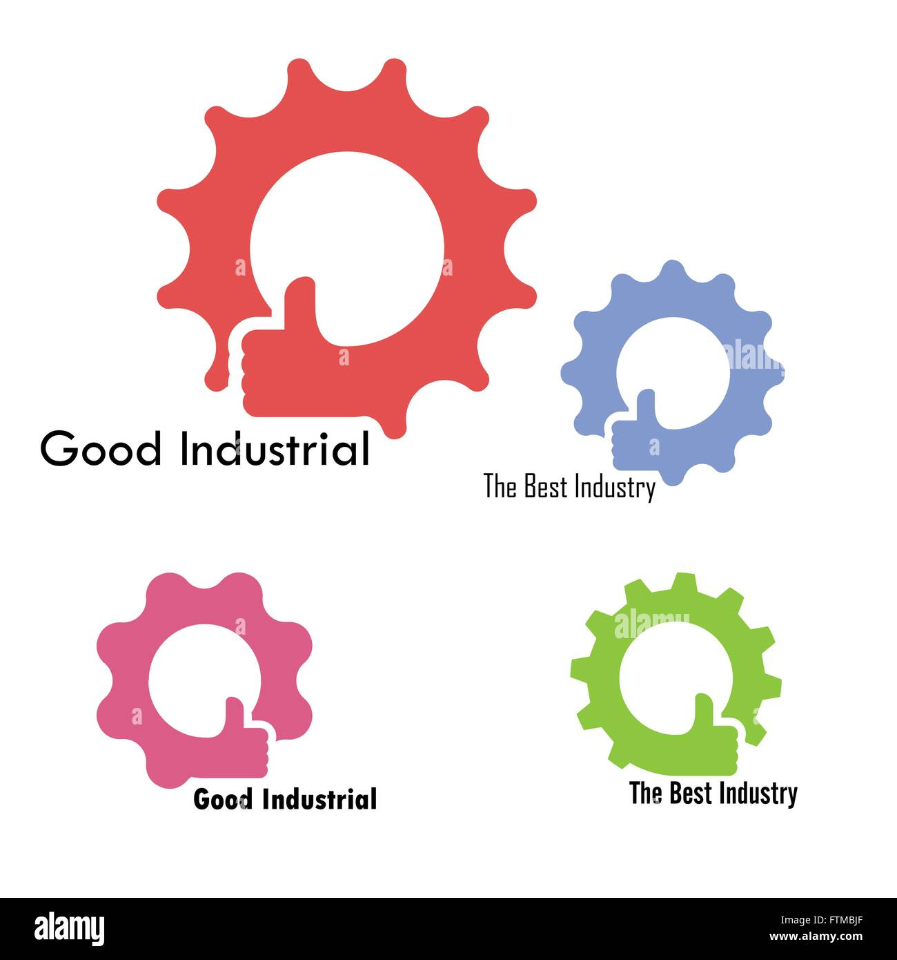 Gear and hand icon vector design good industrial sign the for Good industrial design