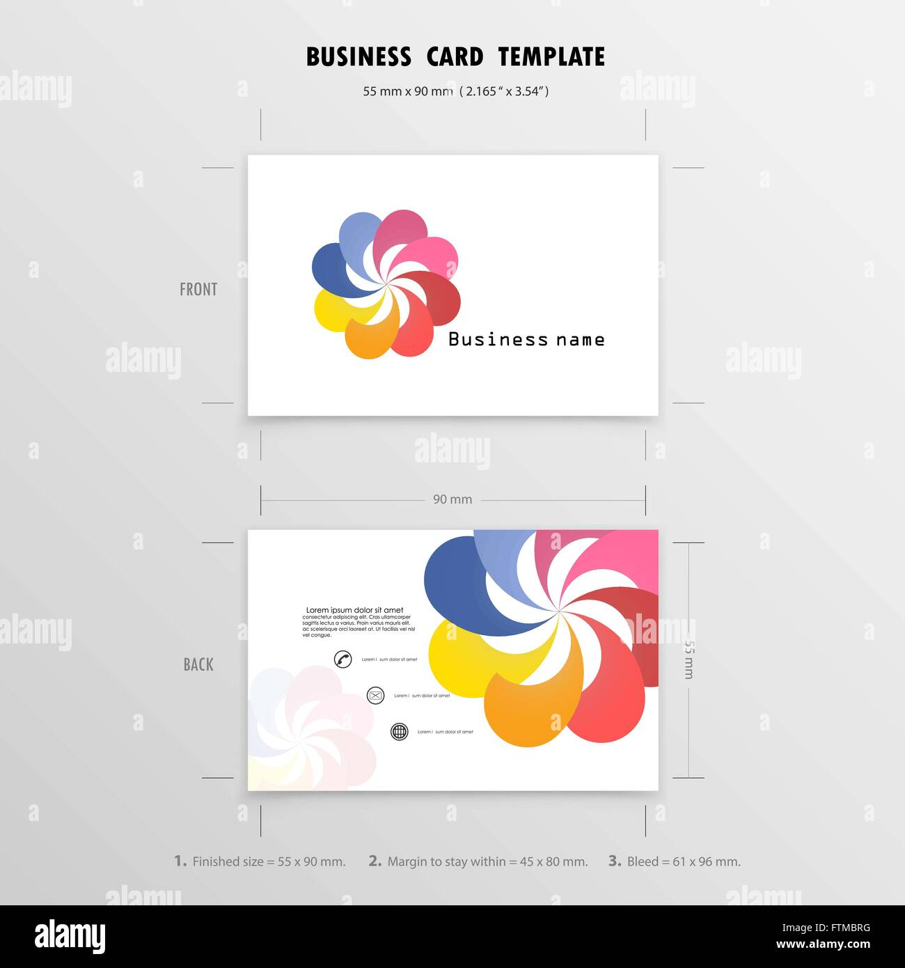 Abstract Creative Business Cards Design Template. Name Cards ...