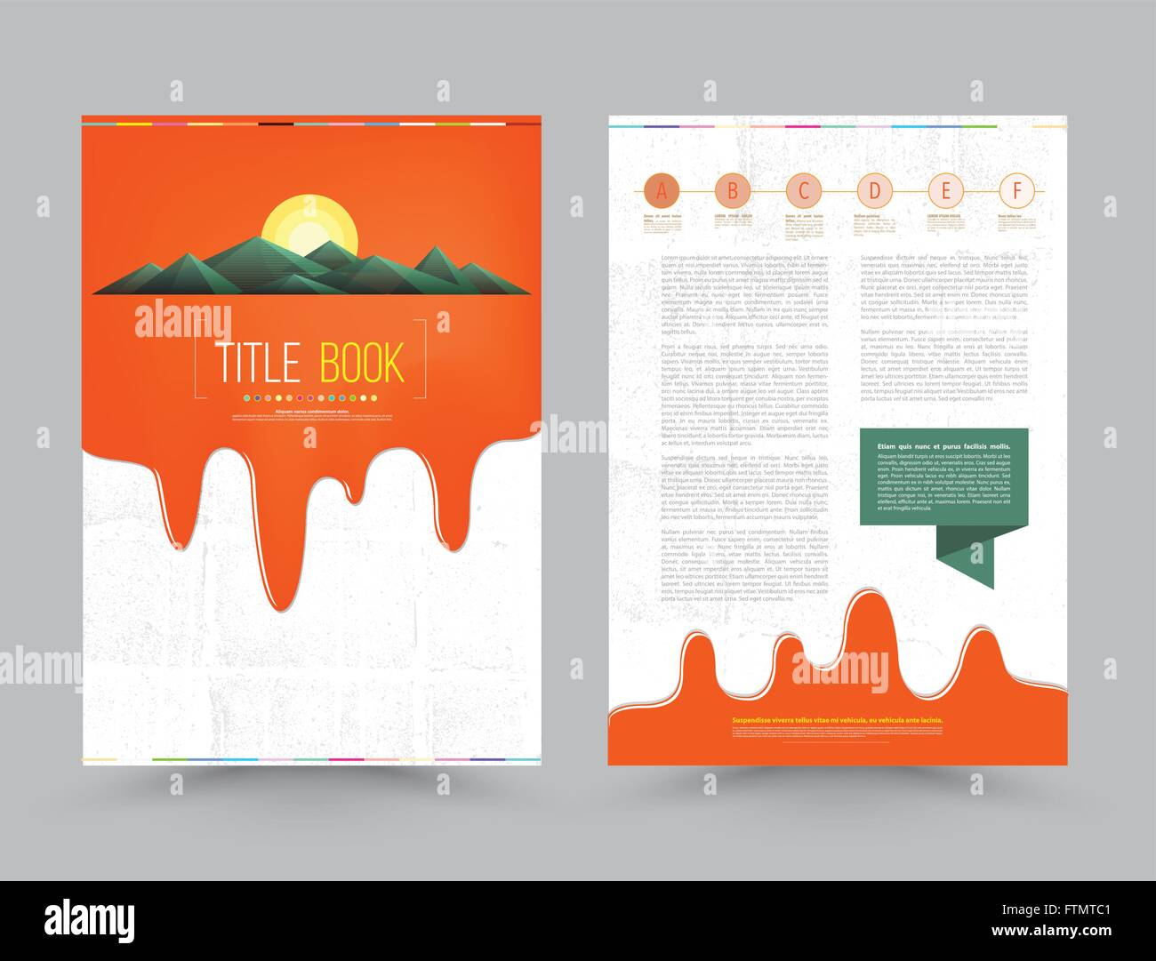 business brochure flyer design layout template in a size paint business brochure flyer design layout template in a4 size paint colorful dripping background textured vector illustration