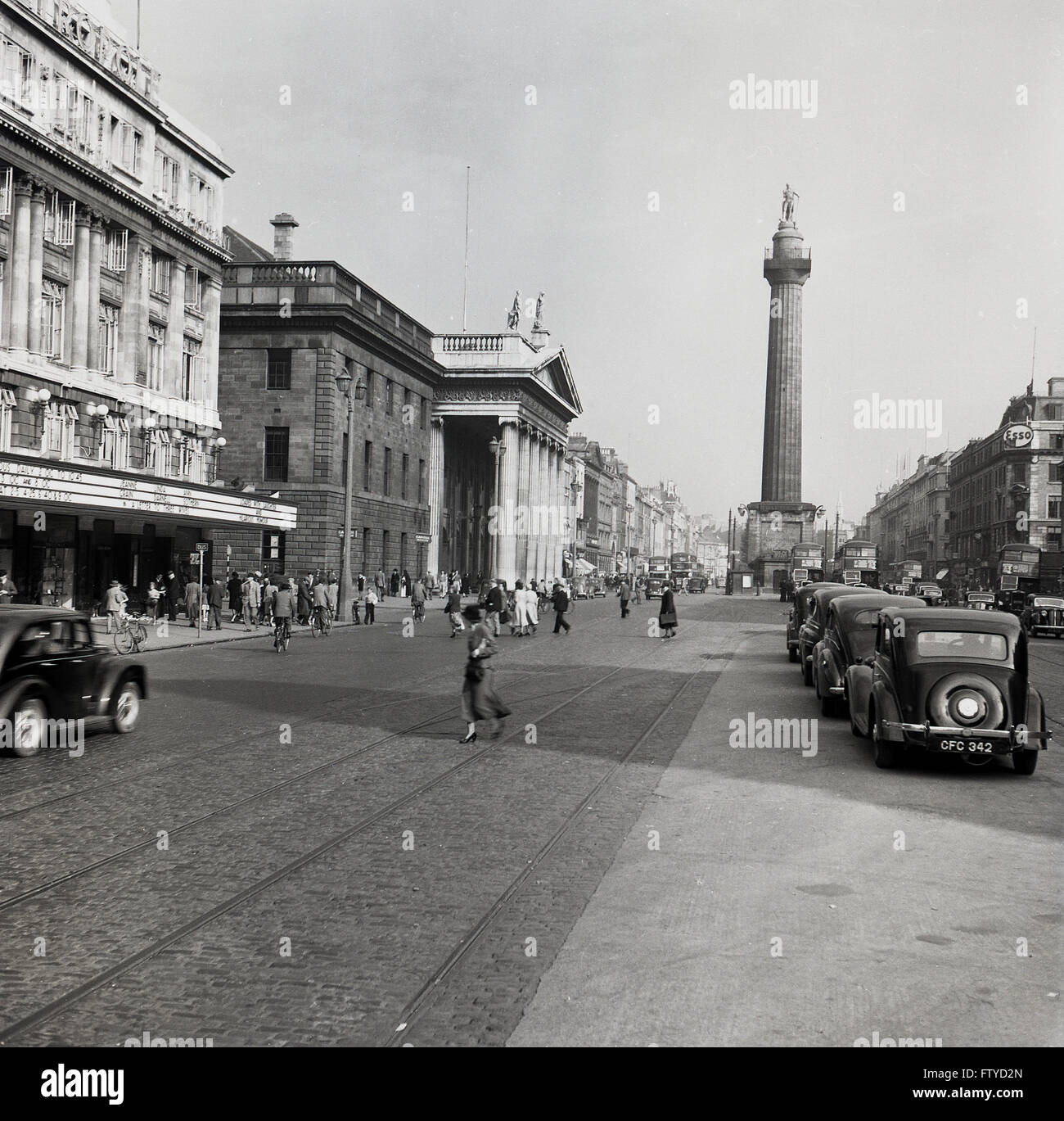 1950s Historical View Of Nelson S Pillar O Connell