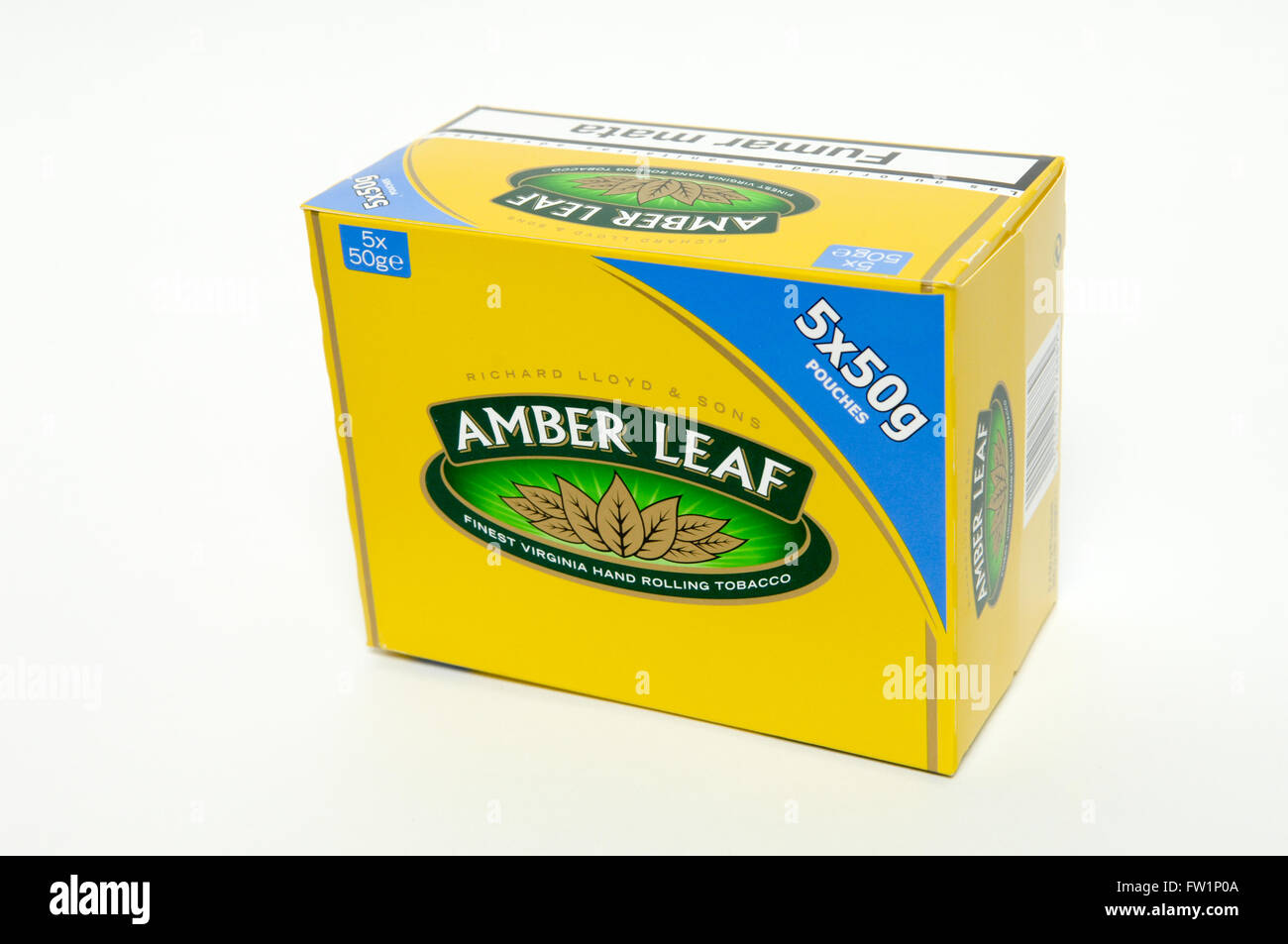 Amber Leaf Hand Rolling Tobacco 5 X 50g Boxes Stock Photo