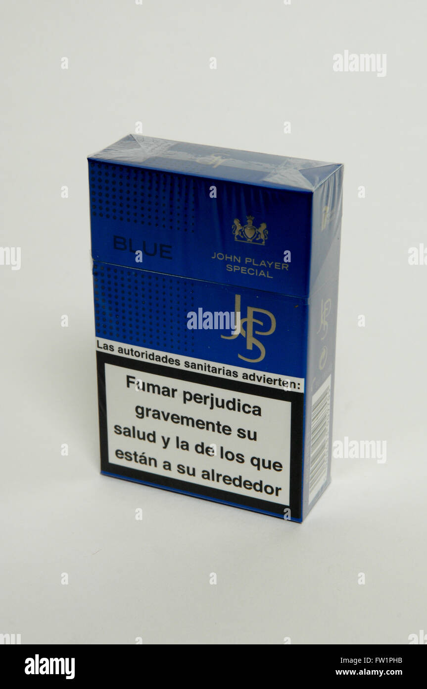 john player special jps blue cigarette packet stock photo royalty free image 101457927 alamy. Black Bedroom Furniture Sets. Home Design Ideas