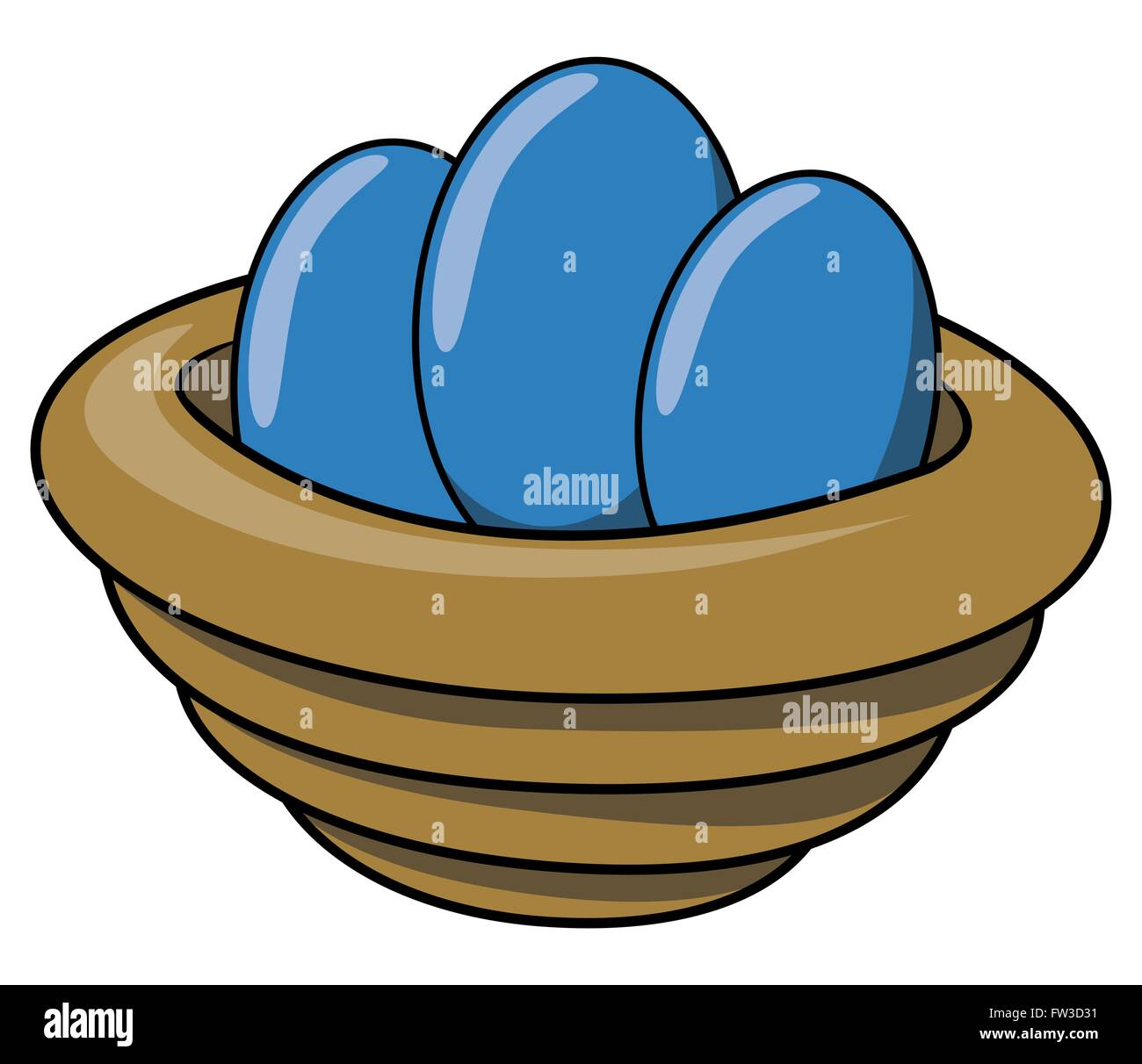 cartoon blue eggs in bowl stock vector art u0026 illustration vector