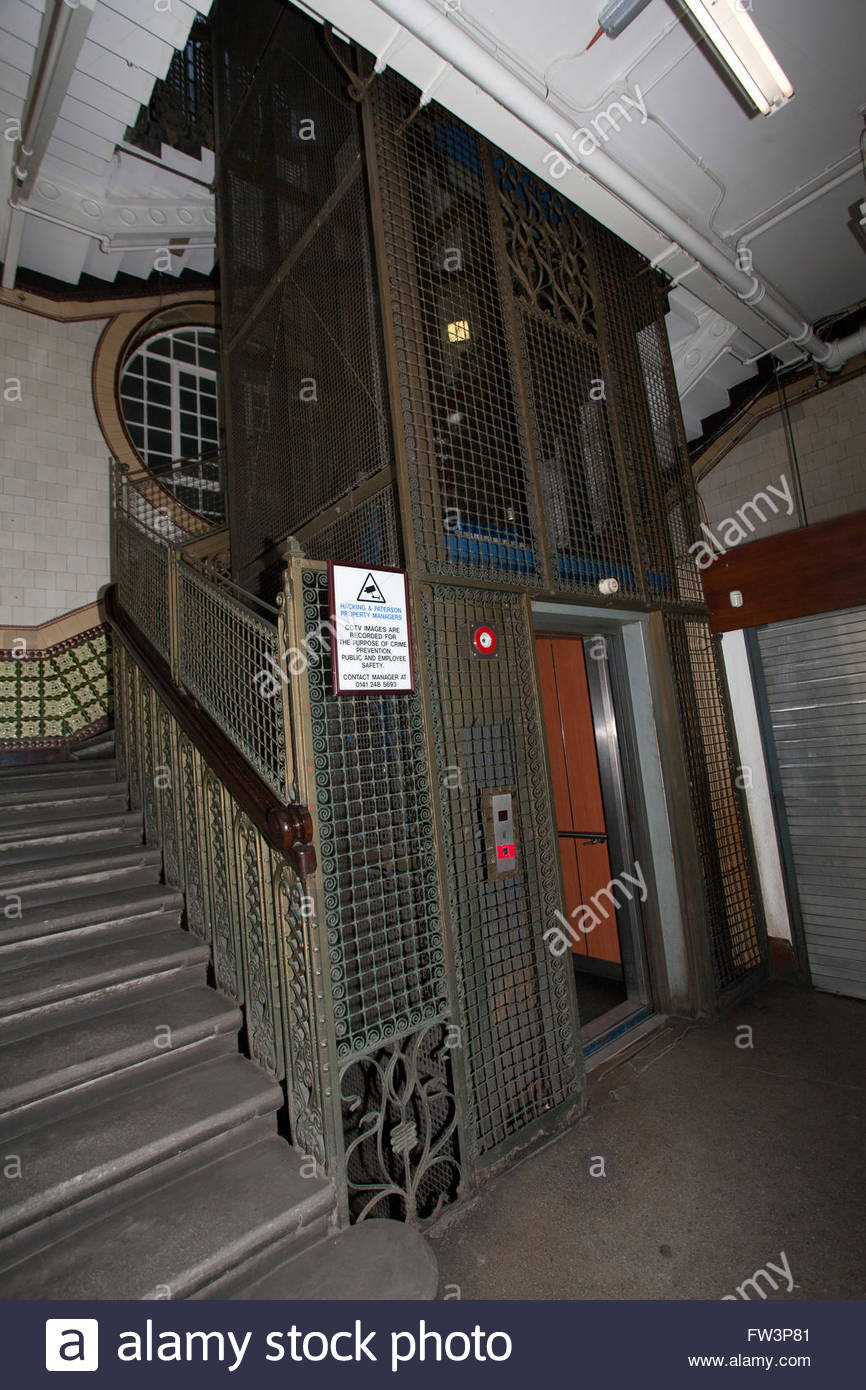 Beautiful Building Old Wrought Iron Cage Elevator With