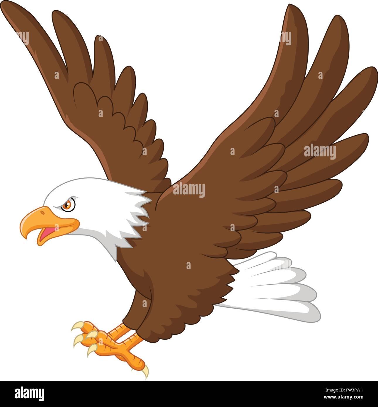 cartoon eagle flying stock vector art   illustration hawk clip art images hawk clip art how to