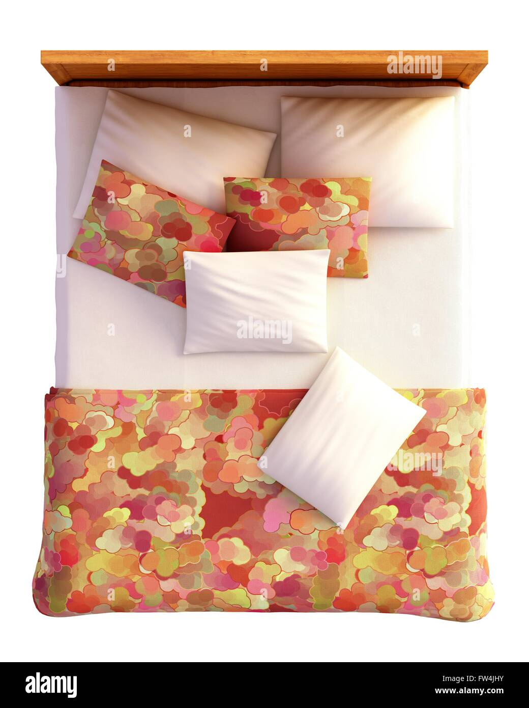 double bed top view. Double Bed Isolated Top View Stock Photos \u0026 .