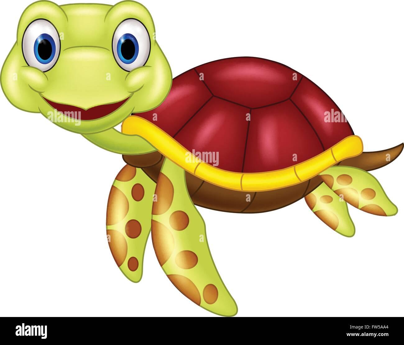 Baby sea turtle cartoon