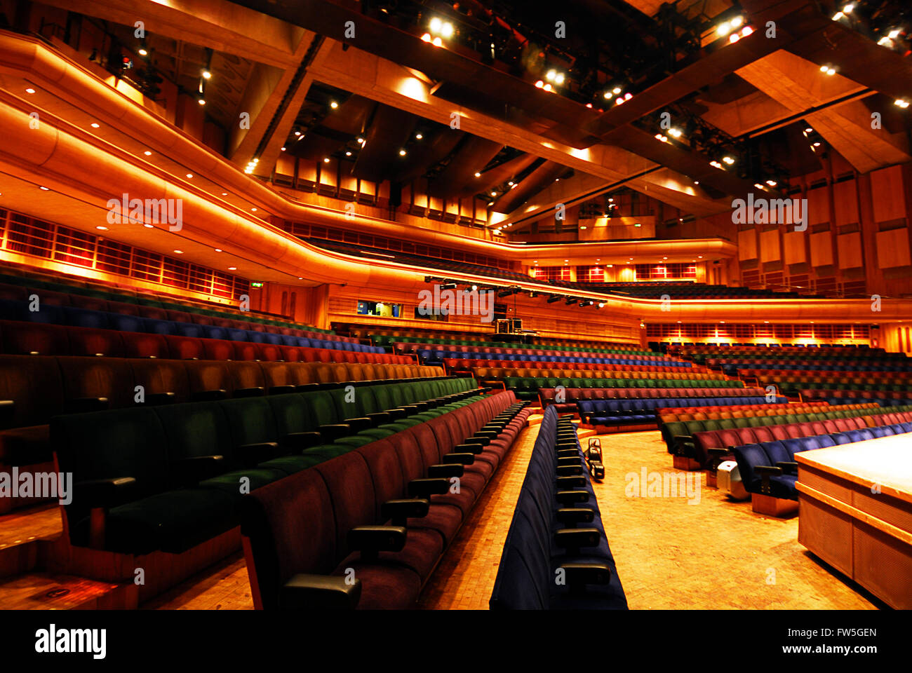 Barbican Centre Interior Of The Concert Hall Auditorium London Stock Photo Royalty Free