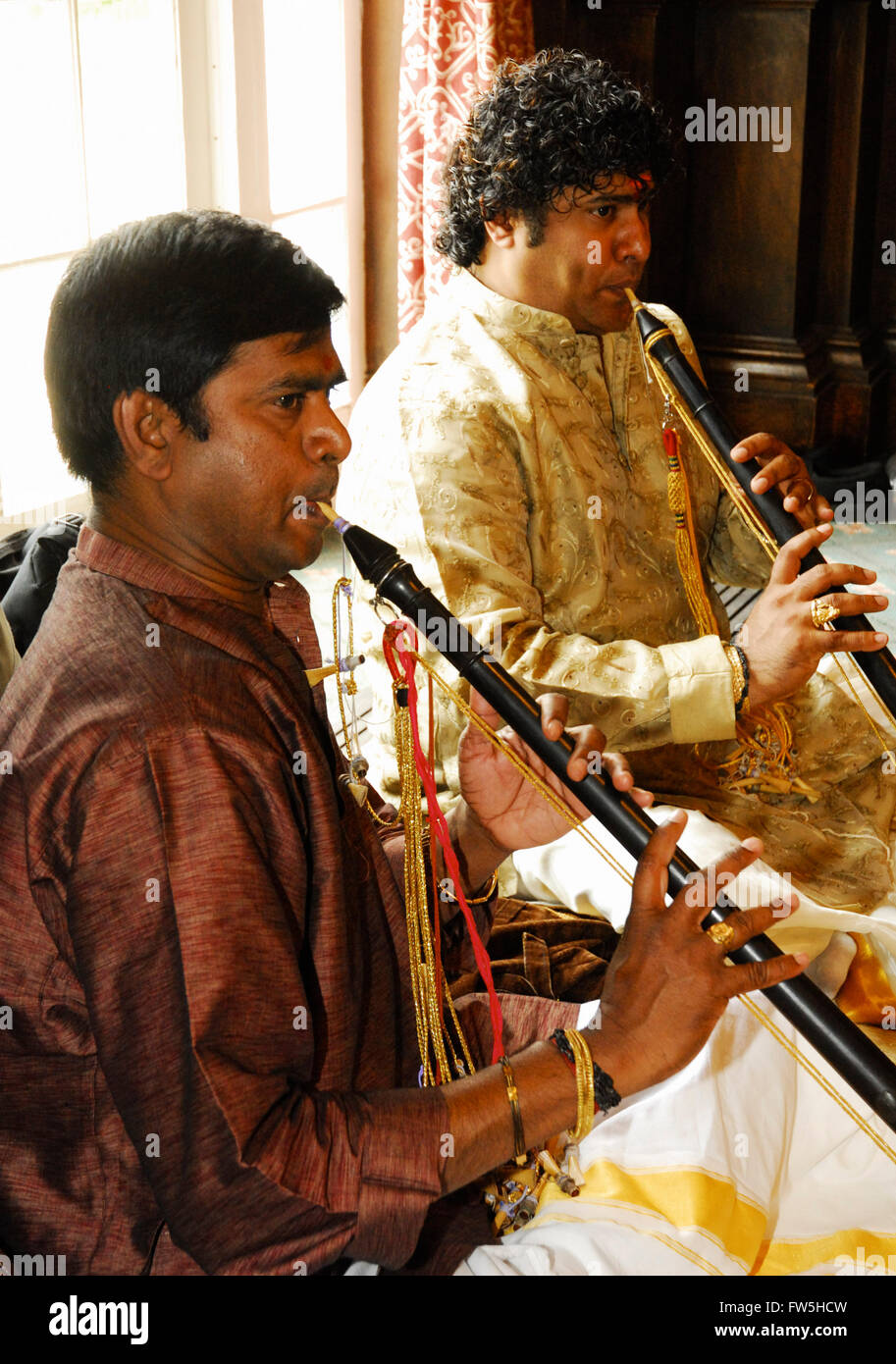 South Indian Nadaswaram Similar To North Shehnai Double Reed Shawm Or Oboe One Of Worlds Loudest Instruments Used At