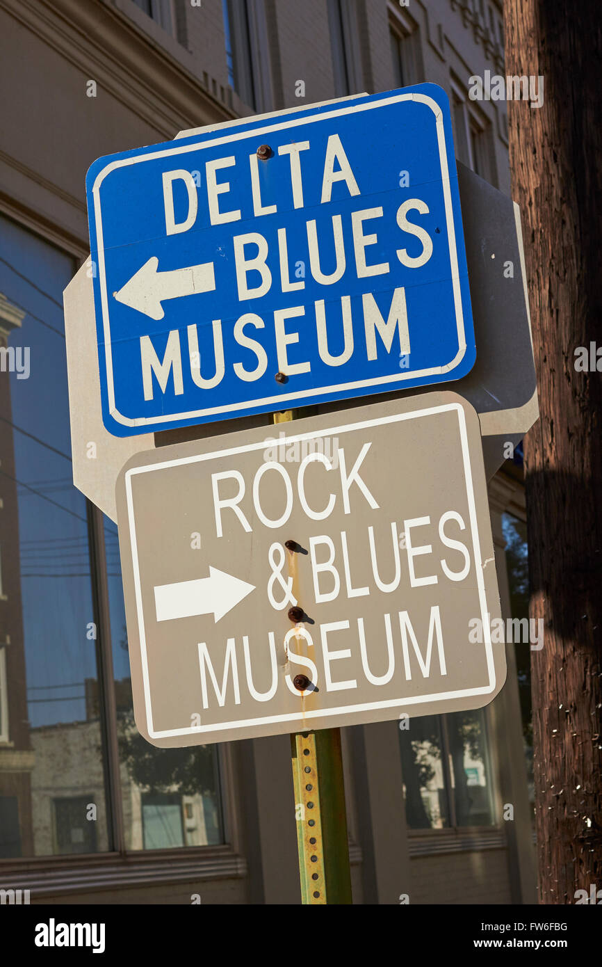 Music Museum Signs Clarksdale Mississippi USA Stock Photo - Music museums in usa