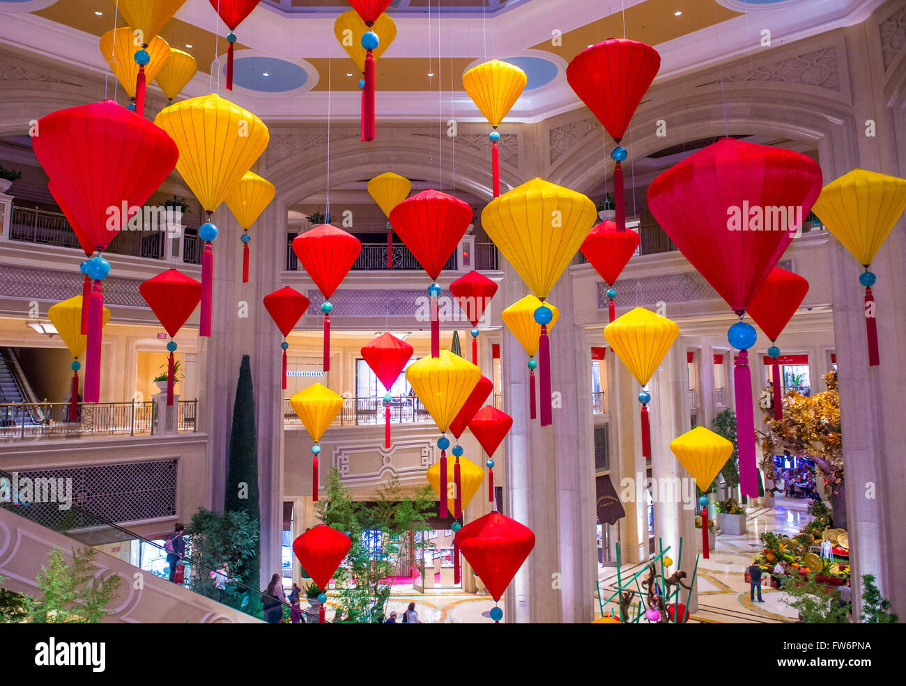 Chinese New Year Decorations At The Venetian Hotel