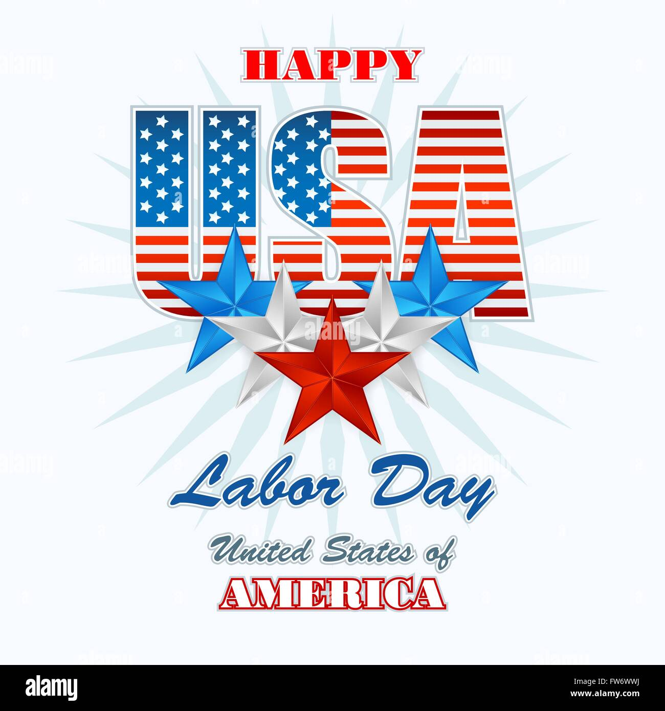 Holidays design template with national American flag colors for