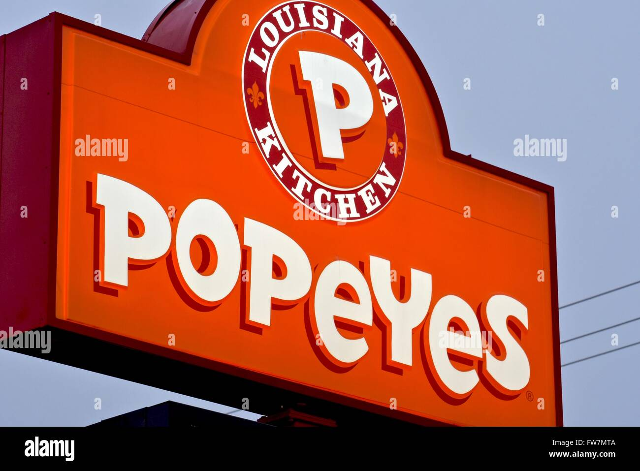 Popeyes Louisiana Kitchen Logo Popeyes Louisiana Kitchen Sign Stock Photo Royalty Free Image