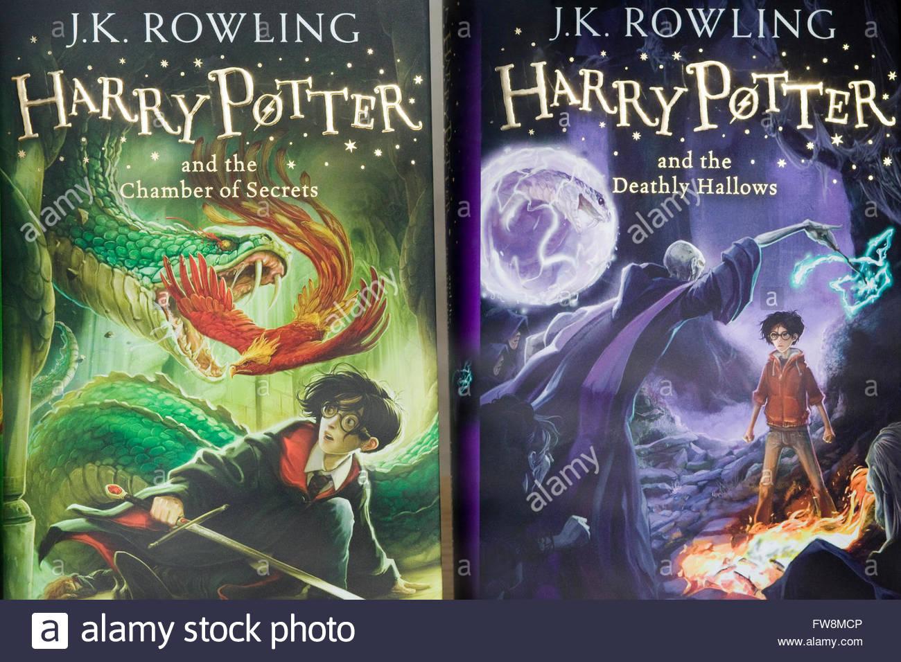 J K Rowling, Harry Potter novels, The chamber of Secrets ...