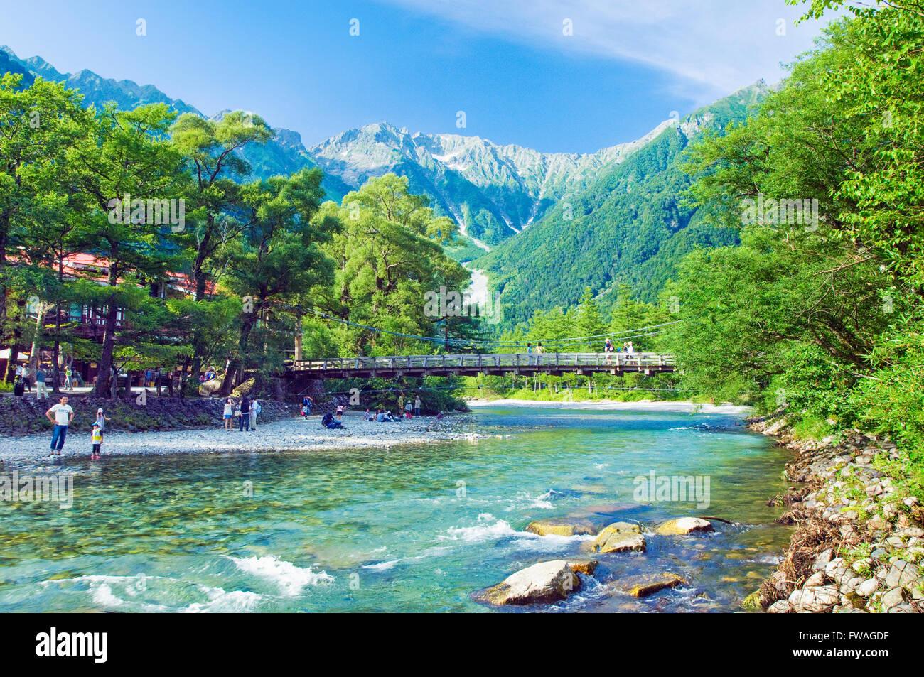 Kappabashi bridge in Kamikochi National Park in Nagano ...