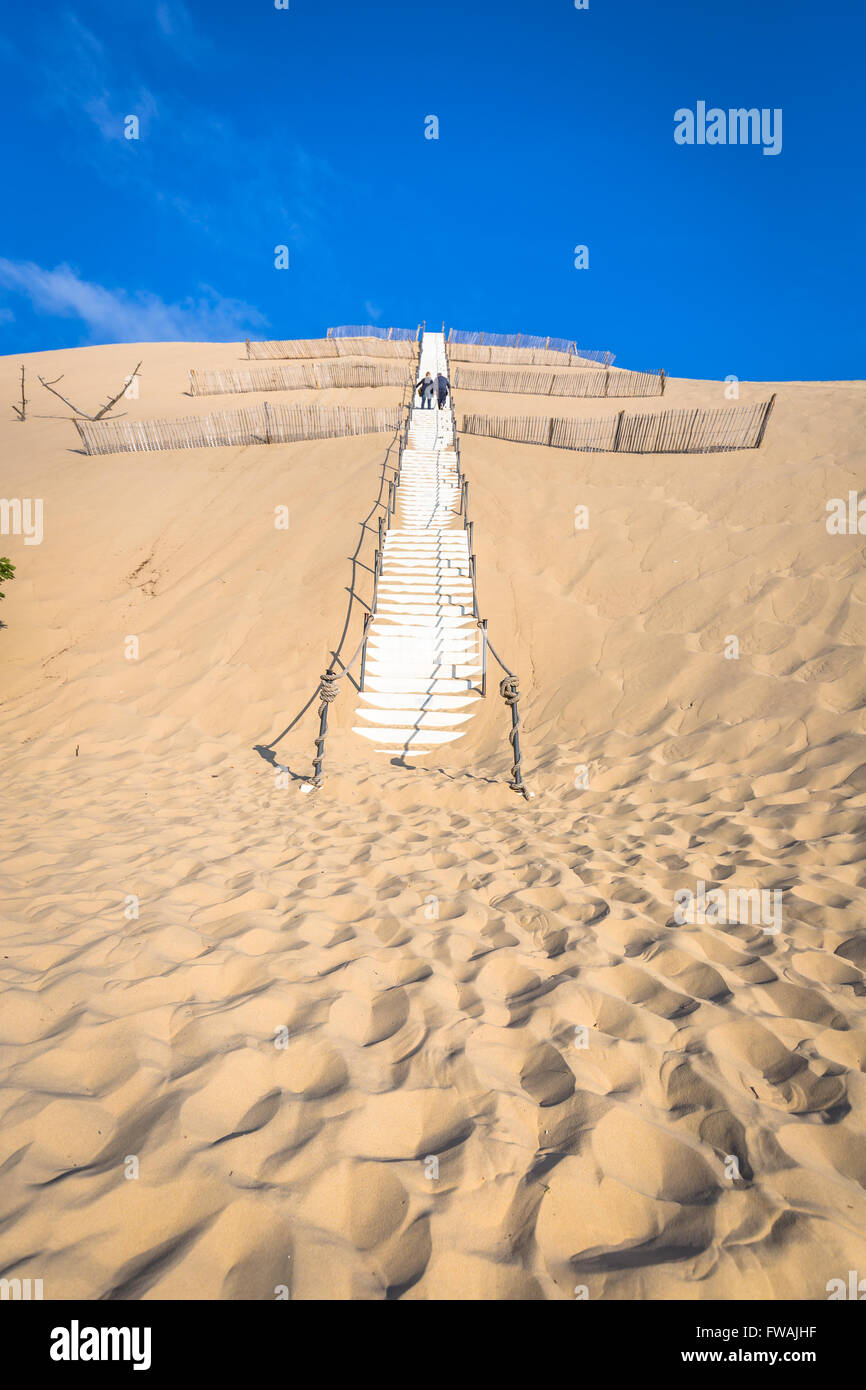 Dune du pyla the largest sand dune in europe aquitaine france stock photo - Restaurant dune du pyla ...