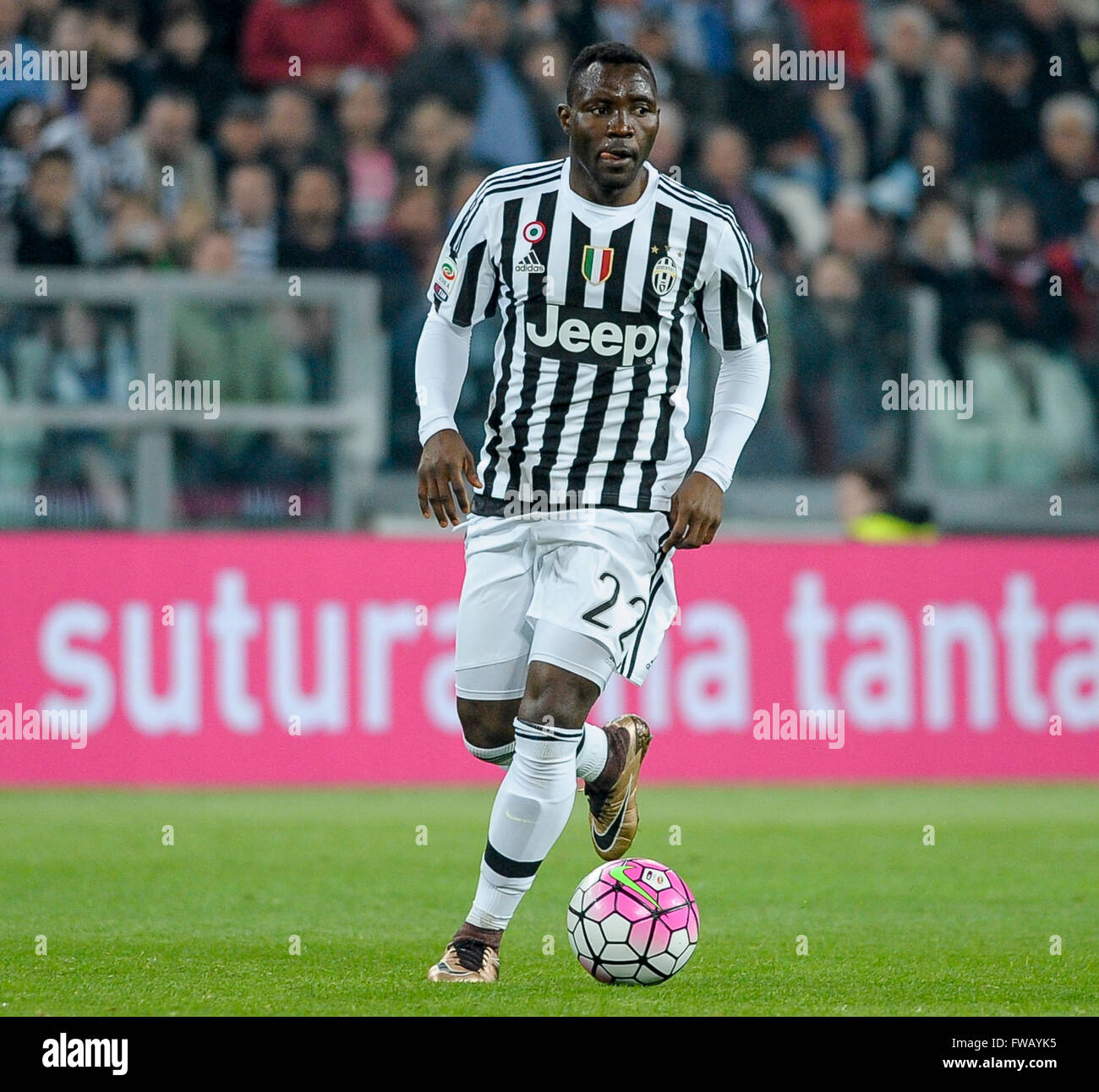 Turin Italy 2 April 2016 Kwadwo Asamoah in action during the