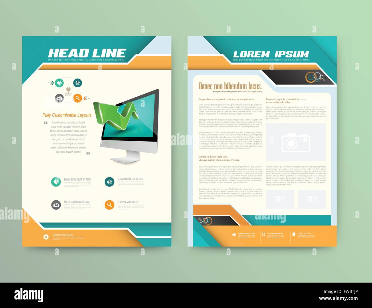 Abstract Vector Brochure Template Flyer Layout Flat Style Stock - Infographic brochure template