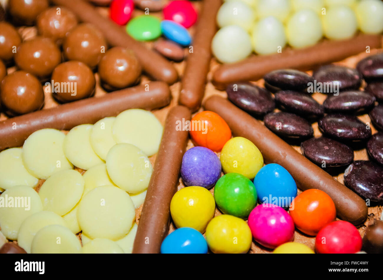 MMs Milky Way Buttons Maltesers Smarties Minstrels and
