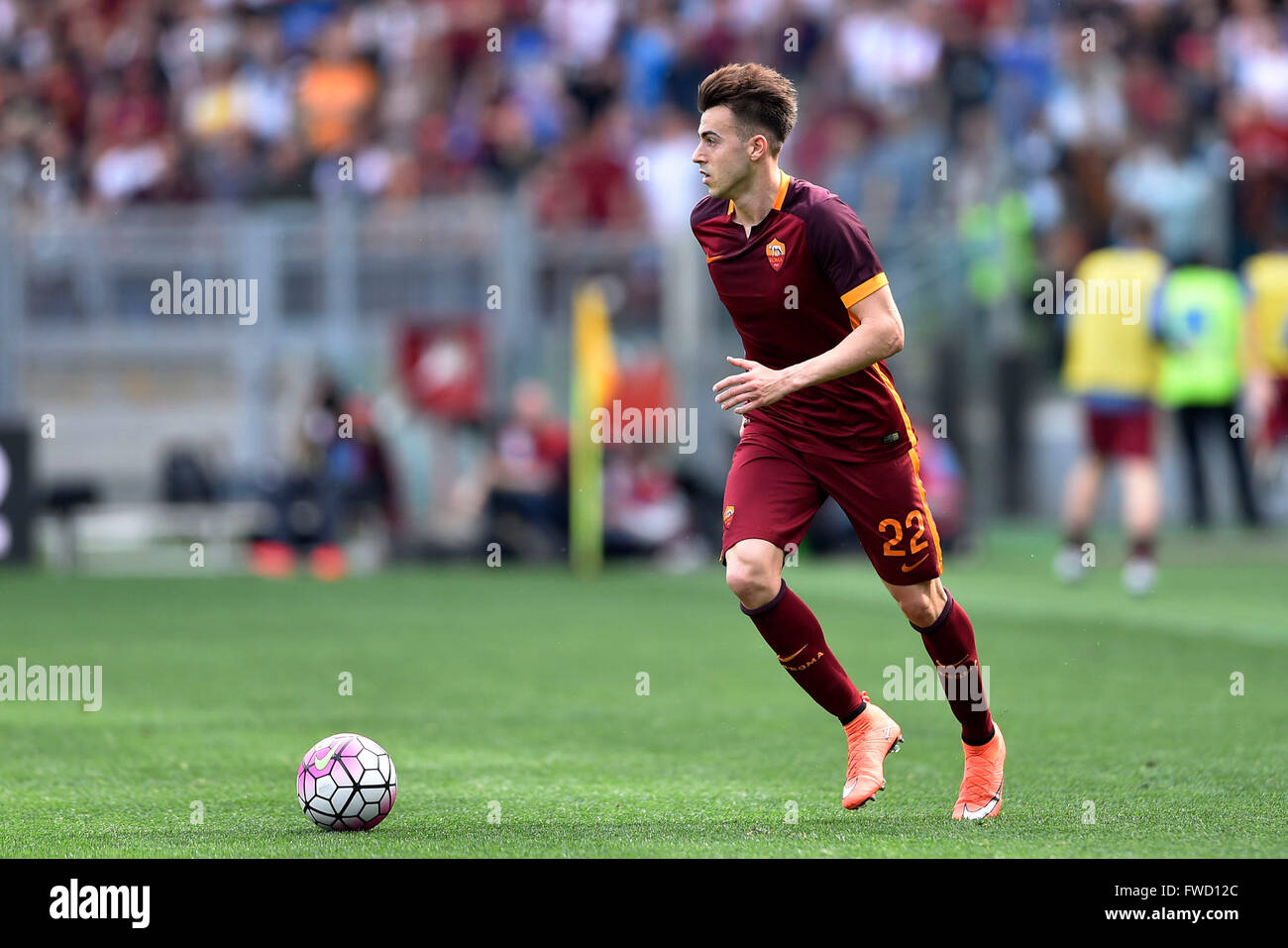Rome Italy 03rd Apr 2016 Stephan El Shaarawy of Roma
