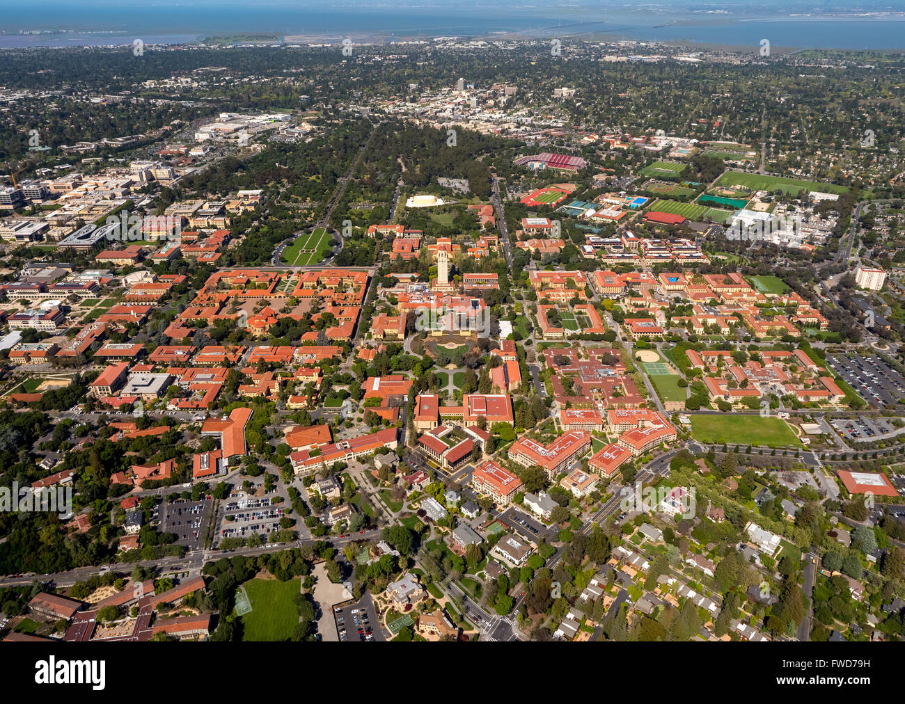 Stanford University campus Palo Alto California, Hoover ...