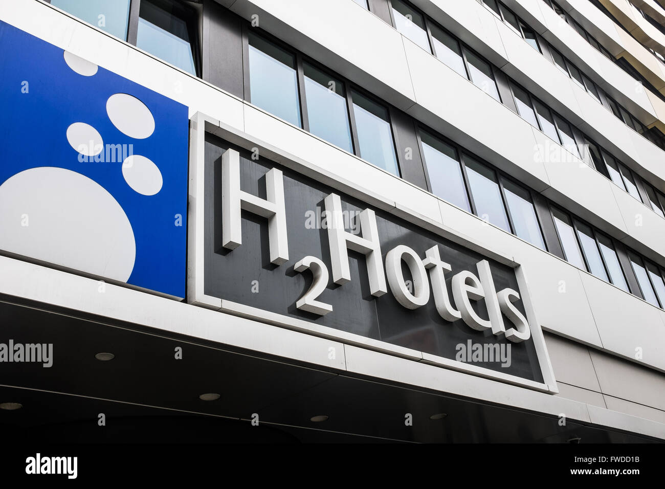 BERLIN, MARCH 31: The H2O hotels facade in the Karl