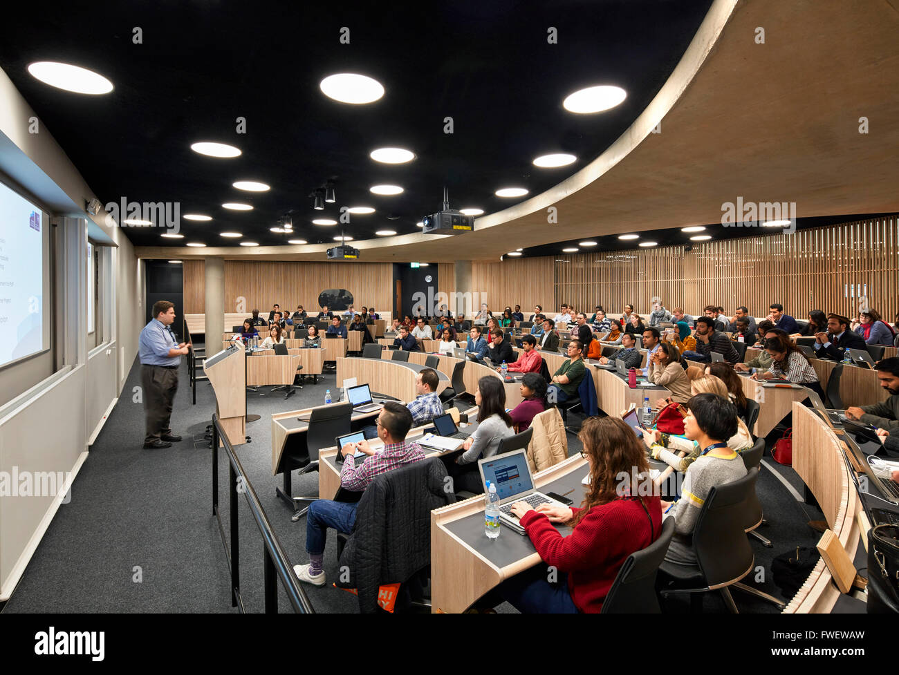 Curved Lecture Hall With Students The Blavatnik School Of