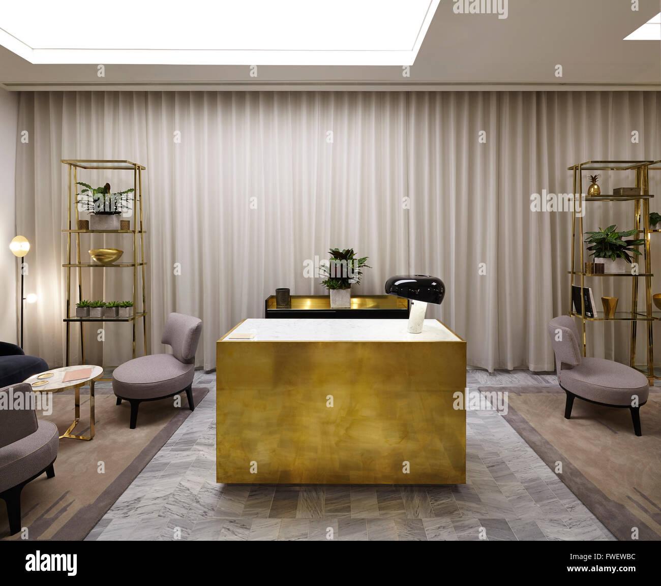 view of the personal shopping area showing concierge desk selfridges manchester manchester united kingdom architect unive - Concierge Desk Design