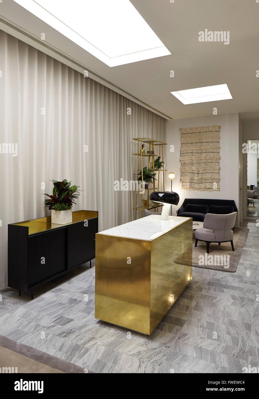 view of the personal shopping area showing concierge desk selfridges manchester manchester - Concierge Desk Design