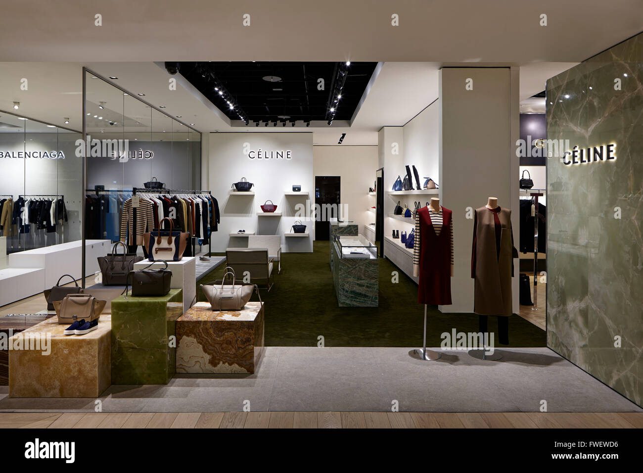 straight on close up shot of celine store within selfridges stock photo royalty free image. Black Bedroom Furniture Sets. Home Design Ideas