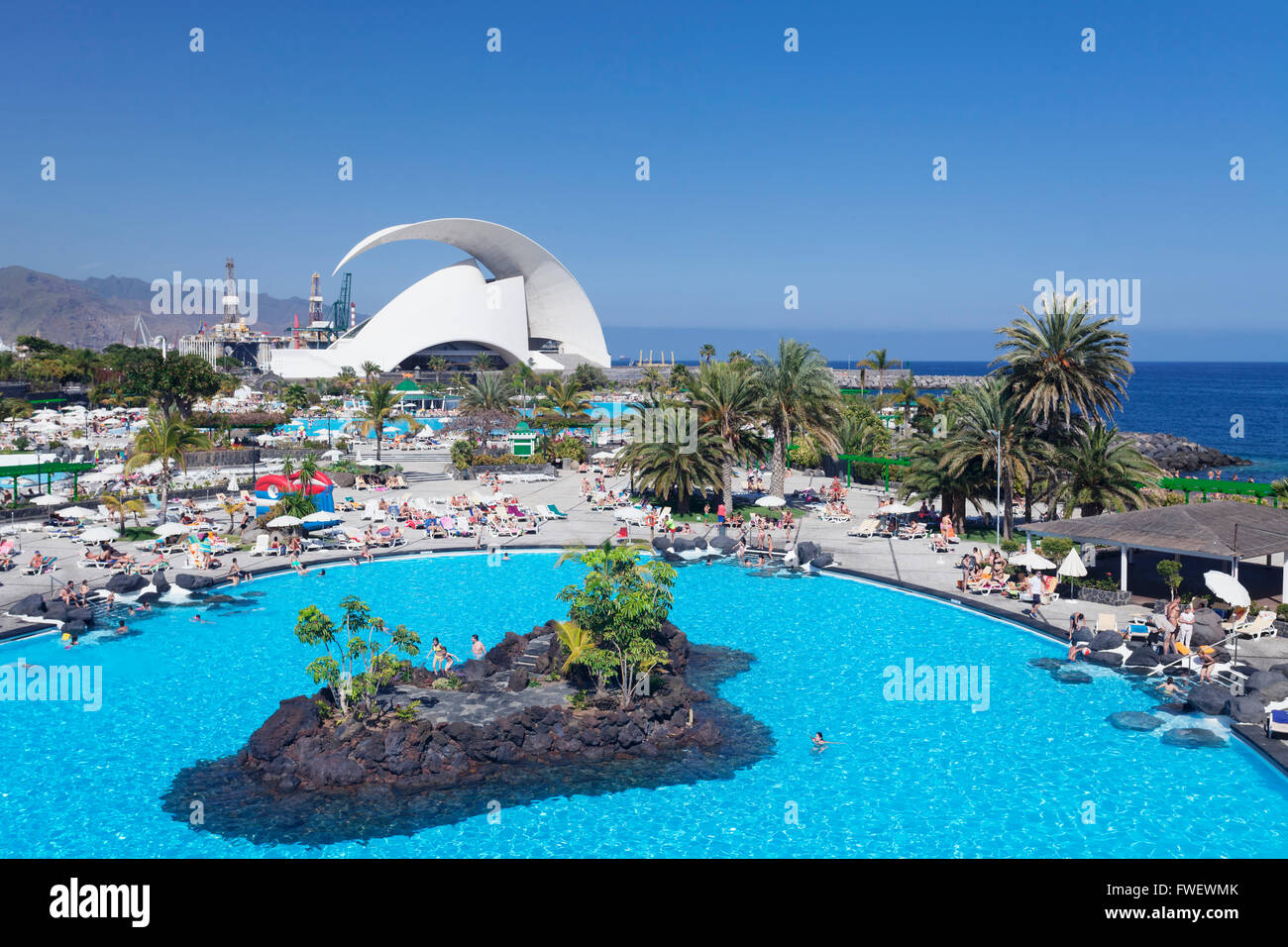 Parque maritimo by cesar manrique and auditorium by - Parques infantiles santa cruz de tenerife ...