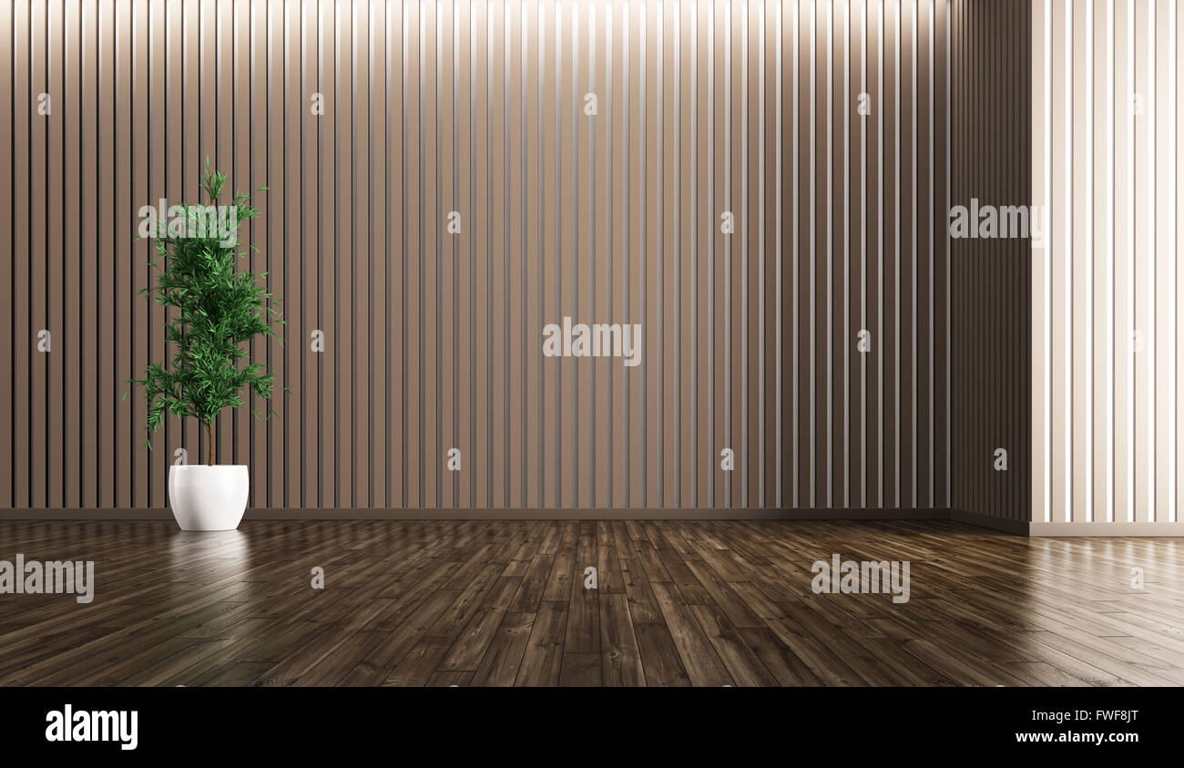 Empty Interior Of Living Room With Plant Background 3d Rendering