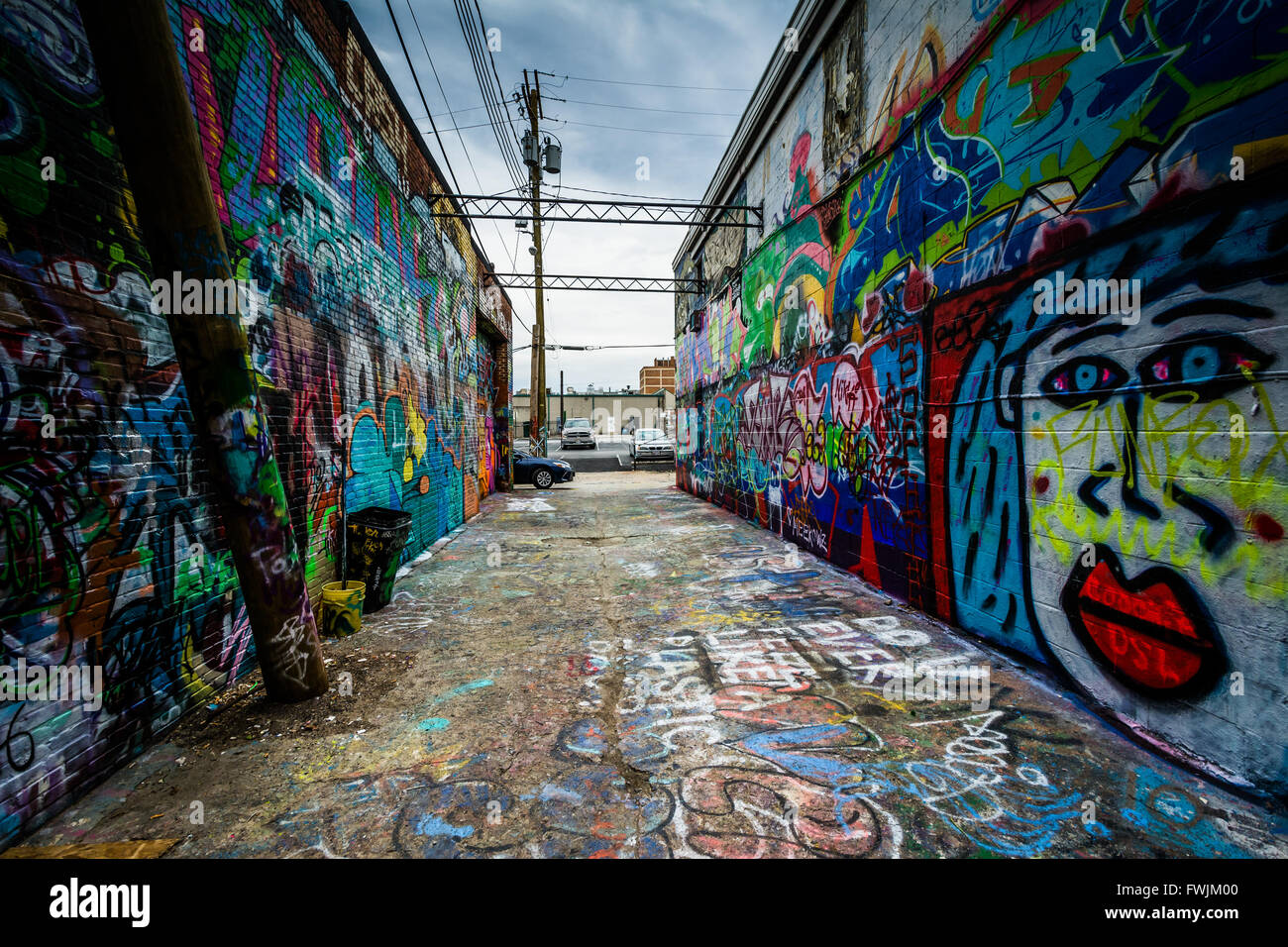 Graffiti wall baltimore - Graffiti Alley In The Station North District Of Baltimore Maryland Stock Image
