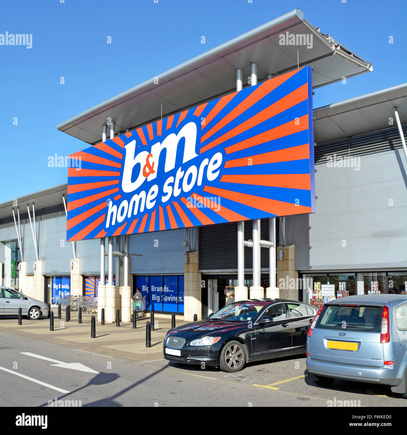 BM Retail Ltd Home Bargains Store Sign Entrance At The Lakeside Park With Free Car Parking Thurrock Essex England UK